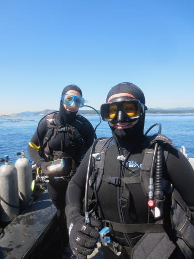 Divers at Race Rocks